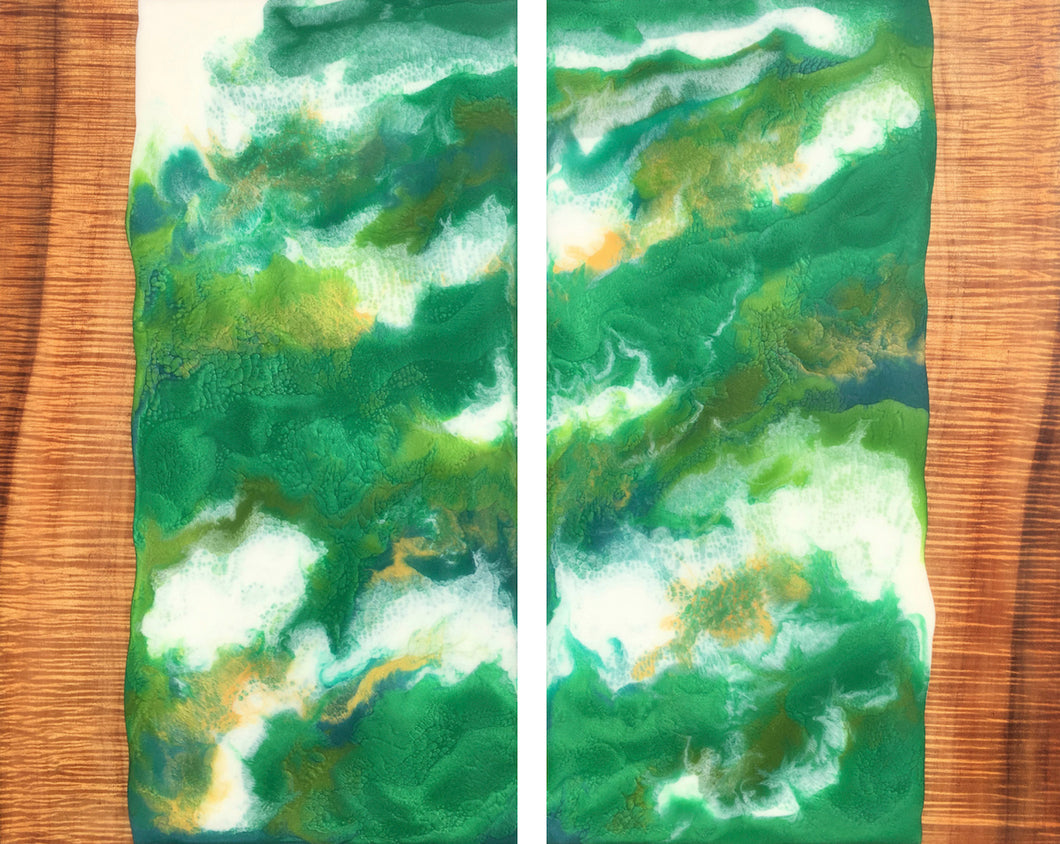 Lush Forest Diptych