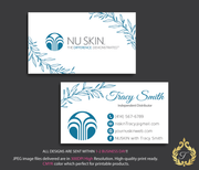 Personalized Nu Skin Business Card, Nu Skin Marketing NK004