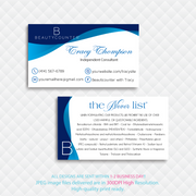 Personalized BeautyCounter Card, The Never List Business Cards 3