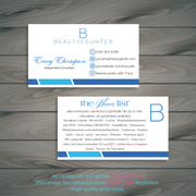 Personalized BeautyCounter Card, The Never List Business Cards 4