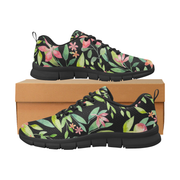 Tropical Shoes, Watercolor Leaves Women's Running Shoes