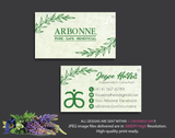 Arbonne Business Cards, Personalized Arbonne Cards AB16