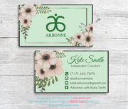 Arbonne Business Cards, Personalized Arbonne Cards AB88