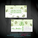 Arbonne Business Cards, Personalized Arbonne Cards AB96