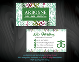 Arbonne Business Cards, Personalized Arbonne Cards AB92 White