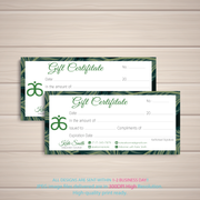 Arbonne Gift Certificate, Personalized Arbonne Gift Card, Arbonne AB90