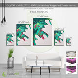 Canvas Acrylic Effect, Colorful Splash Art CV01