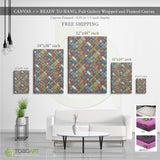 Mandala Canvas Art, Colorful Splash CV35 Portrait Canvas .75in Frame