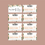 BeautyCounter Scratch Off Cards, Personalized Scratch To Win BC21