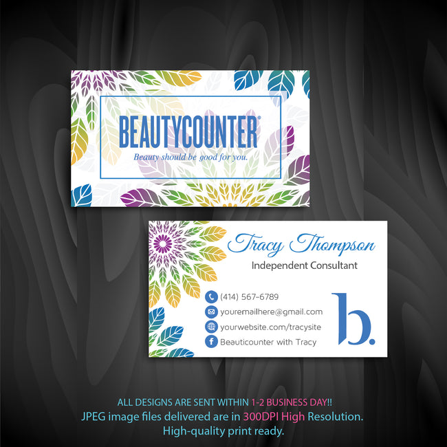 BeautyCounter Business Cards, Personalized BeautyCounter Cards BC11