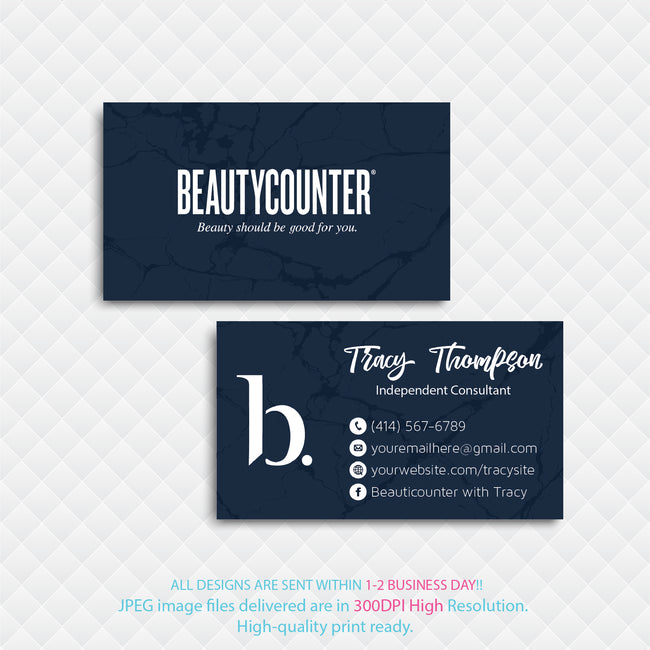 BeautyCounter Business Cards, Personalized BeautyCounter Cards BC20