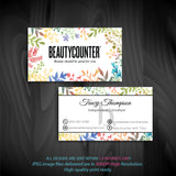 BeautyCounter Business Cards, Personalized BeautyCounter Cards BC05