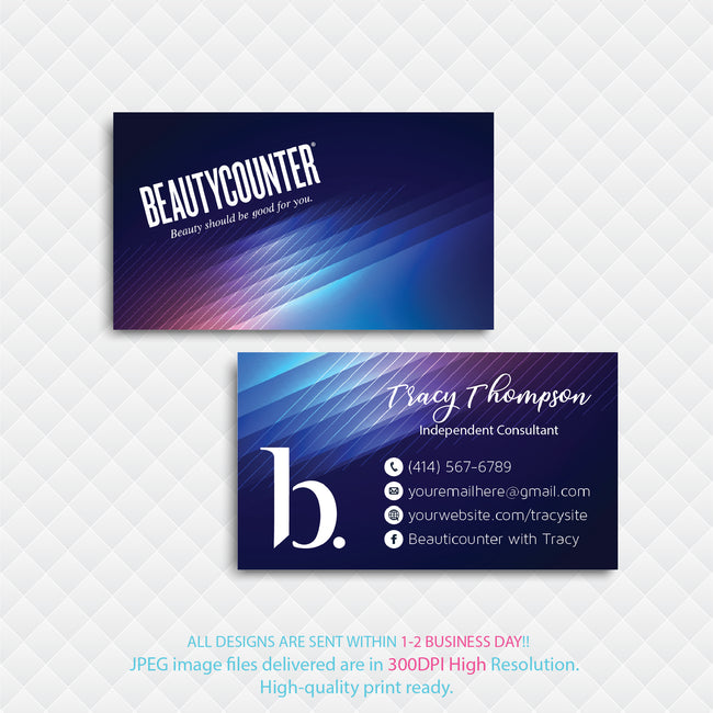 BeautyCounter Business Cards, Personalized BeautyCounter Cards BC23