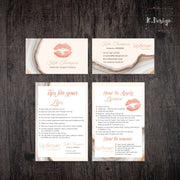 Marble Lipsense Business Cards, LipSense Tips and Tricks Card , LipSense LS05
