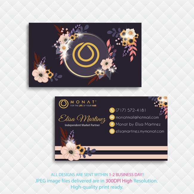 Personalized Monat Business Cards, Monat Hair Care Cards MN40