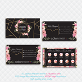 PERSONALIZED COLOR STREET BUSINESS CARDS, COLOR STREET APPLICATION CARDS, CL146