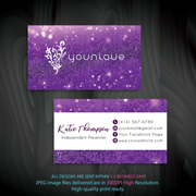 Younique Business Card, Personalized Younique Business Card YQ02
