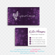 Younique Business Card, Personalized Younique Business Card YQ03