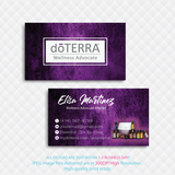 Doterra Business Cards, Personalzied Doterra Essential Oils Card DT86