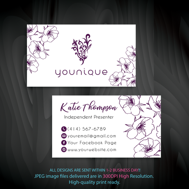 Younique Business Card, Personalized Younique Business Card YQ01