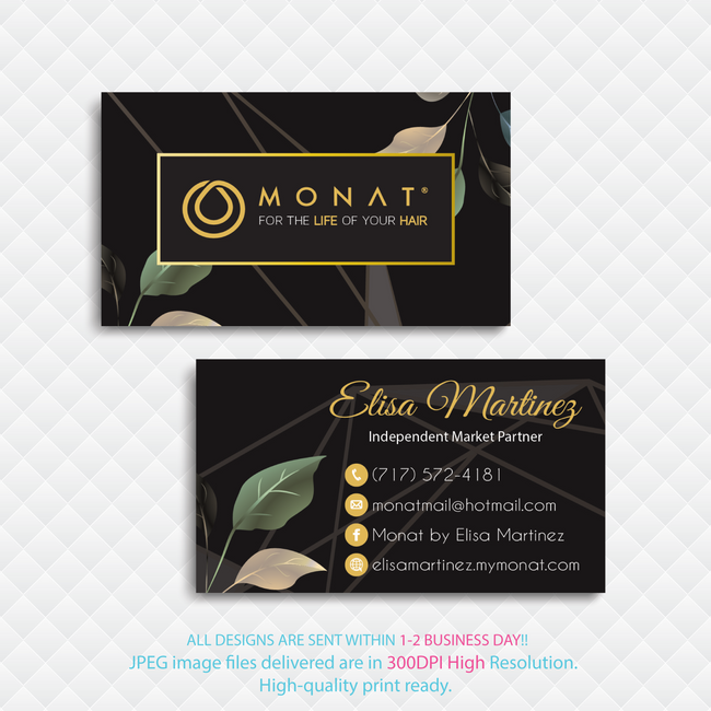 Monat Business Cards, Personalized Monat Hair Care Cards MN45 - ToboArt