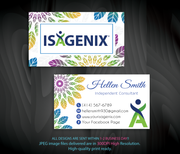 Isagenix Business Cards, Personalized Isagenix Business Card NI04