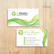 Personalized It Work Business Cards, Printable It Work Business, It Works Global IW02