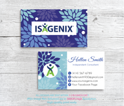 Isagenix Business Cards, Personalized Isagenix Business Card NI06