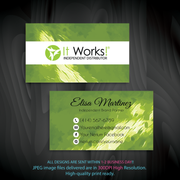 It Work Business Template, Personalized It Work Business Cards IW06