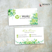Greenery It Works Business Cards, It Works Global Cards, It Works IW11