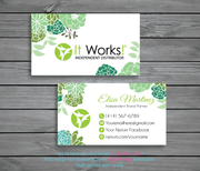 Personalized It Works Business Cards, Printable It Works Business IW02