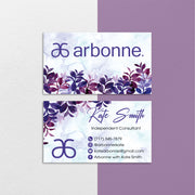 Watercolor Personalized Arbonne Cards, Watercolor Arbonne Business Cards AB148