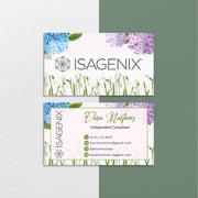 Floral Personalized Isagenix Business Card, Isagenix Business Cards IS07
