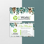 It Works Cards, Watercolor It Works Business Cards, It Works IW21