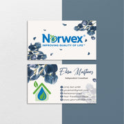 Floral Norwex Business Cards, Floral Personalized Norwex Template Cards NR38