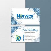 Norwex Business Cards, Floral Personalized Norwex Template Cards NR41