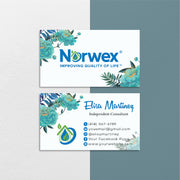 Floral Norwex Business Cards, Floral Personalized Norwex Template Cards NR42