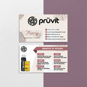 Watercolor Personalized Pruvit Hair Care Cards, Modern Pruvit Business Cards PV01