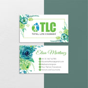 Floral Modern TLC Business Cards, Floral Personalized TLC Hair Care Cards TLC02