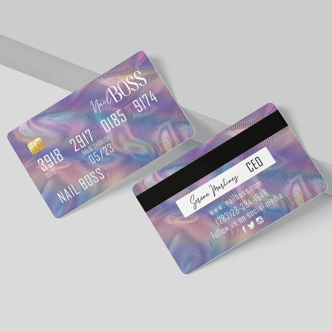 Hologram Credit Card Business Cards, Credit Card business card BC11