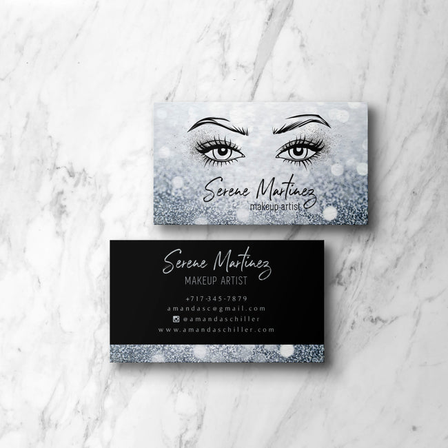 Makeup Artist Business Card Template, Editable Cards, Try Before You Buy BC06