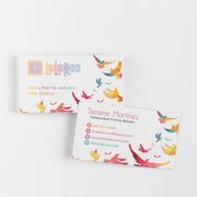 Colorful Birds Personalized Lularoe Business Cards, Lularoe Template Design LLR3