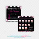 COLOR STREET SQUARE BUSINESS CARDS, PERSONALIZED COLOR STREET APPLICATION CARDS, CL05