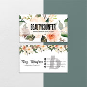 Floral BeautyCounter Business Cards, Personalized BeautyCounter Cards BC21