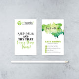 Keep Calm It Works Business Cards, Body Wrap It Works Cards, It Works IW14