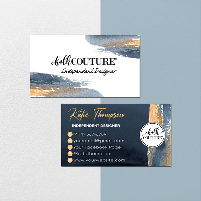 Watercolor Chalk Couture Business Card, Chalk Couture Business Cards CC15