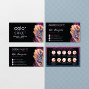 Color Street Business Cards, Application Cards, Glitter Color Street CL191