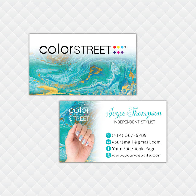 PERSONALIZED COLOR STREET APPLICATION CARDS, COLOR STREET BUSINESS CARDS CL195
