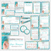 Color Street Marketing Bundle, Personalized Color Street Nail Cards CL195