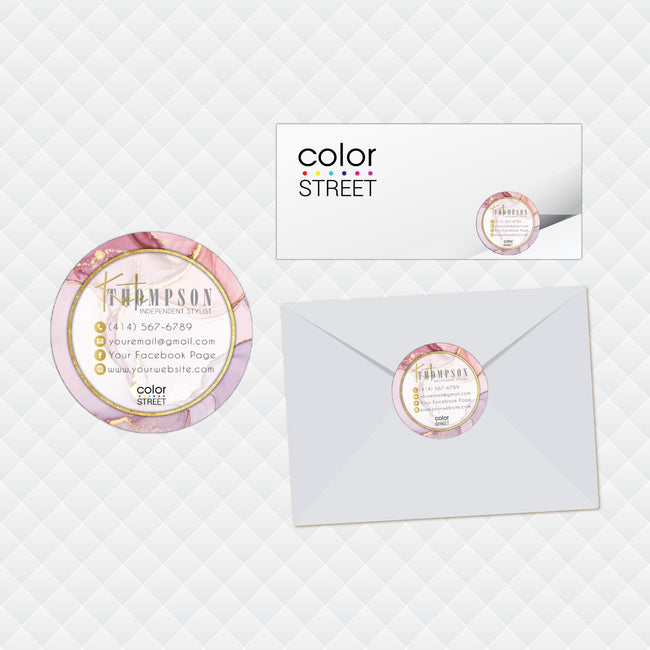 Marble Color Street Stickers, Marble Color Street Envelope Seals, Marble Mail Stickers CL201